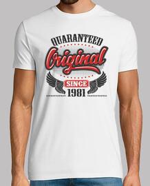 original garanti depuis 1981