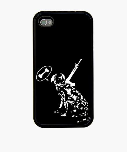 Coque iPhone os de guerre de gaine blanche