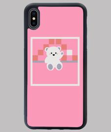 Osito polar de la suerte iPhone XS Max rosa