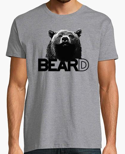 Camiseta oso barbudo