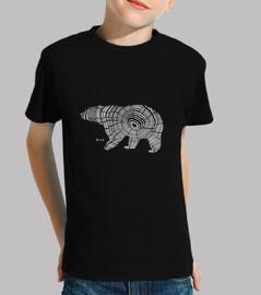oso de madera salvaje