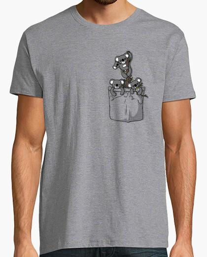 Camiseta osos koala bolsillo