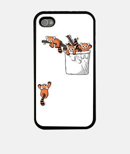 osos panda rojos de bolsillo