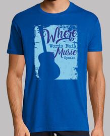 où les mots manquent la musique parle la guitare