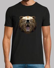 ours en colère dans design du low poly