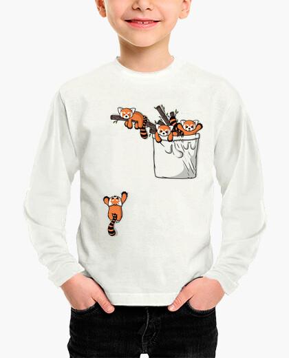 Vêtements enfant ours panda rouge