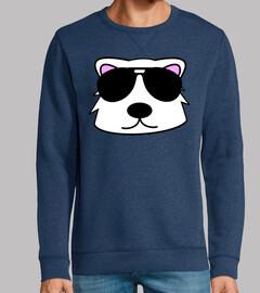 ours polaire face doodle