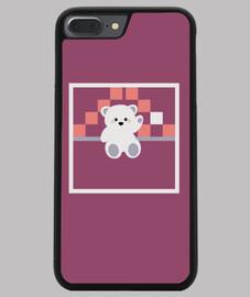 ours polaire porte-bonheur iphone 7/8 plus violet