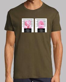 ours prisonnier. rétro  tee shirt  homme chocolat