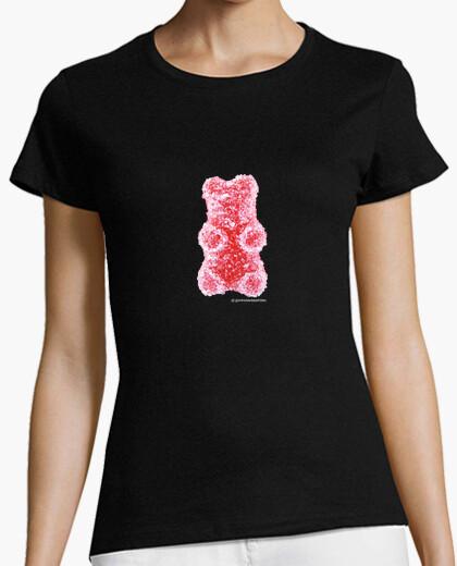 Tee-shirt ours rouge. shirt noir couleur fille