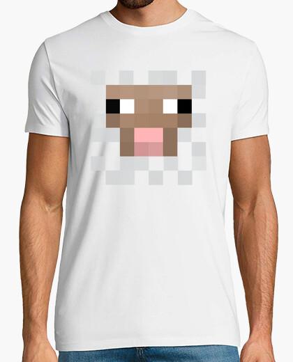 Camiseta oveja pixel minecraft
