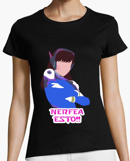 Camiseta Overwatch D.va - Nerfea Esto!! (M)