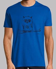 owl perched tshirt man