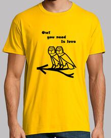 owl vous avez besoin est amour (noir)