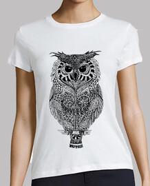 Owl Zentangle camiseta mujer