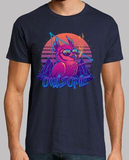 owlsome - owl awesome bird retrowave 80
