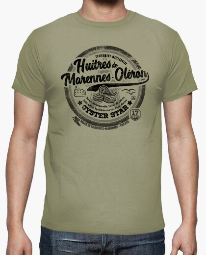 Oysters from marennes-oléron t-shirt