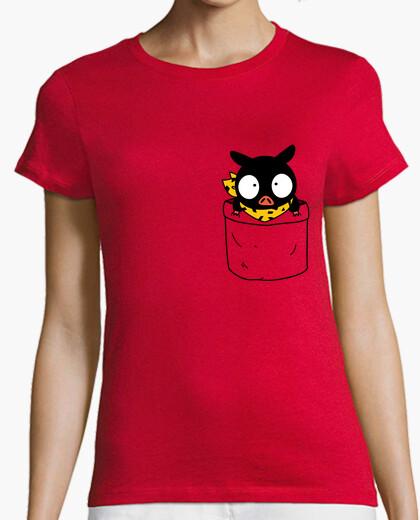 T-shirt p-chan in una pocket ragazza