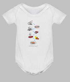 Pa amb tomàquet - Body nadó amb pigments ecològics