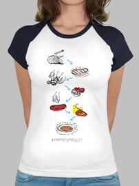 pa amb tomàquet - samarreta de baseball noia estil
