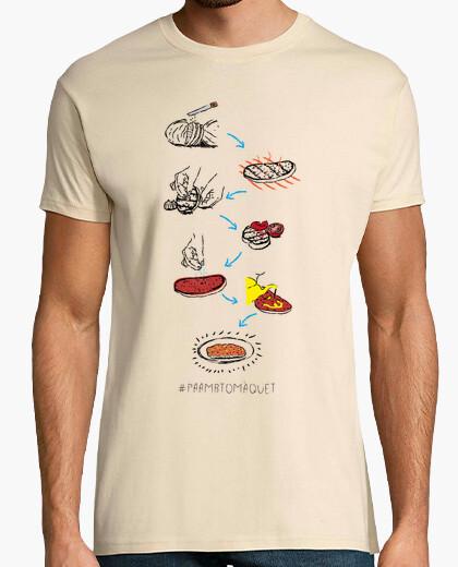 Camiseta Pa amb tomàquet - Samarreta de noi, qualitat extra
