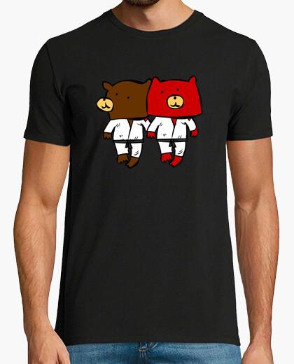 T-Shirt paar oso karateka oder judoka love love love