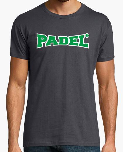 Camiseta padel verde y blanco
