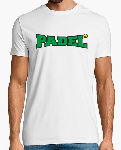 Camiseta padel verde y negro