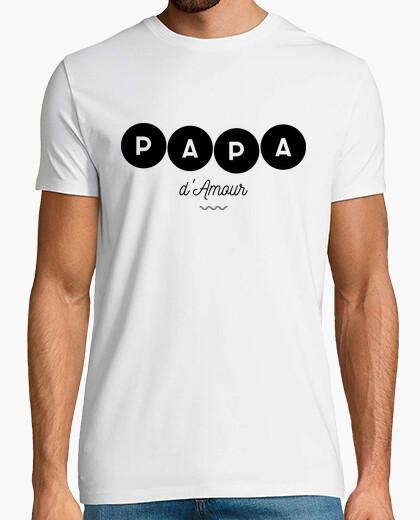 Camiseta padre del amor-negro
