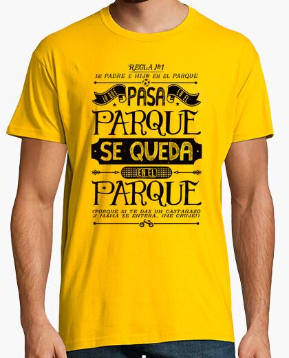 Camiseta Padre e Hij@: Regla Nº1 - negro