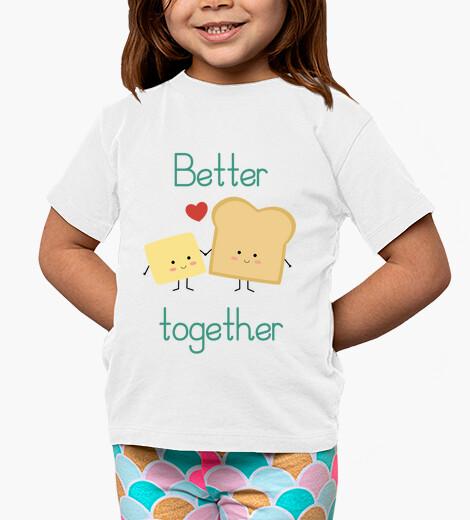 Vêtements enfant pain grillé et du beurre