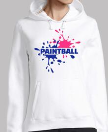 Paintball-Farbspritzen