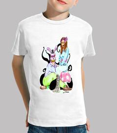 país de las maravillas camiseta junior