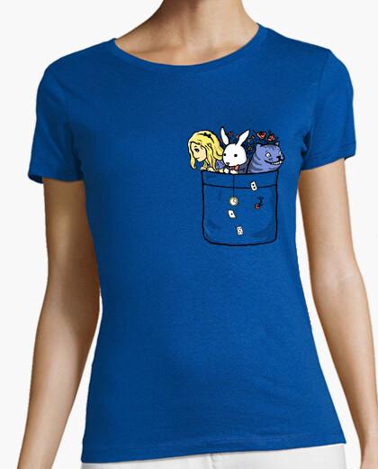 Camiseta país de las maravillas de bolsillo