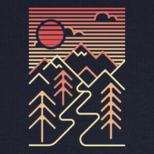 paisaje de montaña geométrico T-shirts