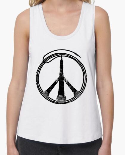 Tee-shirt paix et musique (noir)