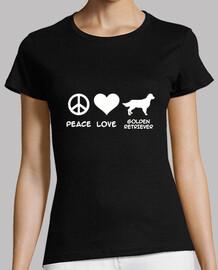 paix love  golden retriever