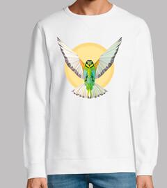 Pájaro - geometría. Texto: Despliega tu