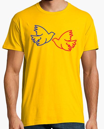 Camiseta pájaro de amor