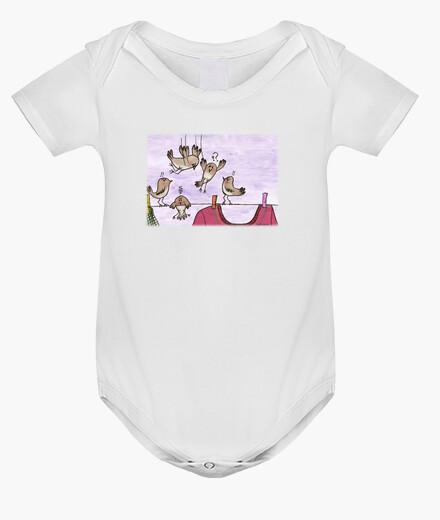 Ropa infantil PÁJAROS KAMIKAZEE body bebé blanco