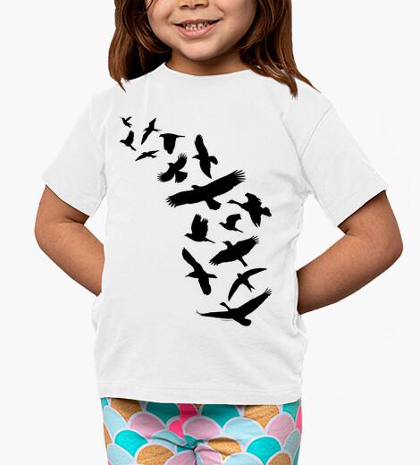 Ropa infantil Pájaros volando - negro