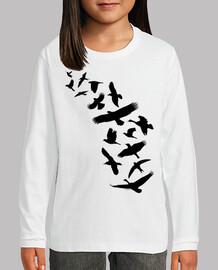 Pájaros volando - negro