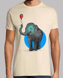 palloncino elefante - uomo, manica corta, crema, qualità extra