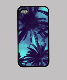 palm tree - blu iphone 4