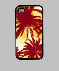 palmera - de color rojo iphone 4