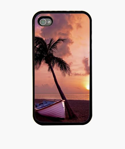 Funda iPhone palmera y barca