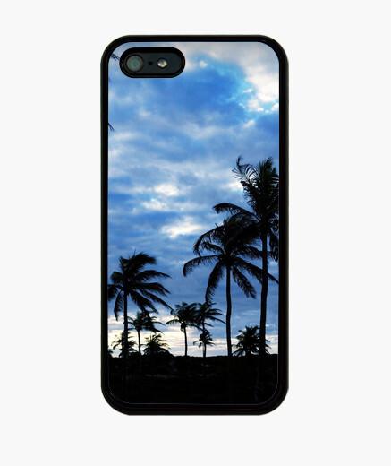 Funda iPhone Palmeras - iPhone 5 / 5s, negra