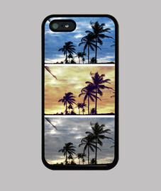 Palmeras tricolor - iPhone 5 / 5s, negra