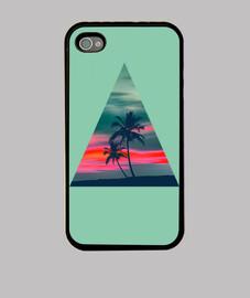 palmiers and le coucher du soleil