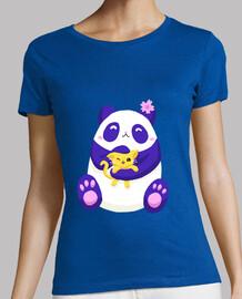 Panda bear and kitten